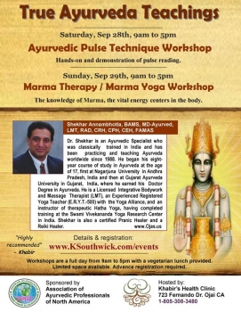 1-day Ayurvedic Pulse Technique Workshop by Dr. Shekhar BAMS, MD-Ayurveda