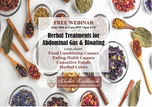 Webinar: Natural  treatments for abdominal gas & bloating.