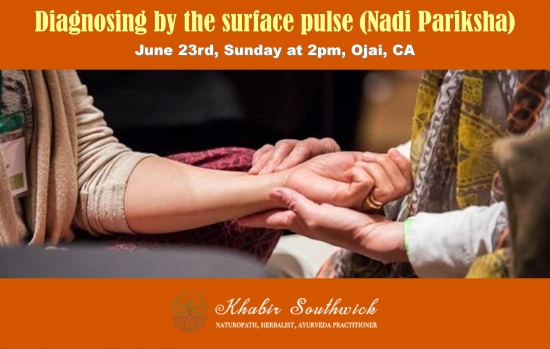 Free class: Diagnosing by the surface pulse per Ayurveda